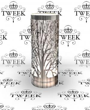 silver tree silhouette aroma lamp